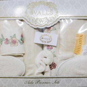 Şıkel Bath - Turkish Robe Sets, Family Set, White, 6 Pieces